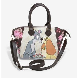 LOUNGEFLY DISNEY LADY & THE TRAMP FLORAL SATCHEL